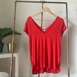 Anthropologie Bordeaux Red Tee S